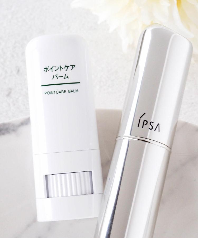 IPSA 美容液 ザ・タイムR デイエッセンススティック MUJI 乳液・クリーム ポイントケアバーム