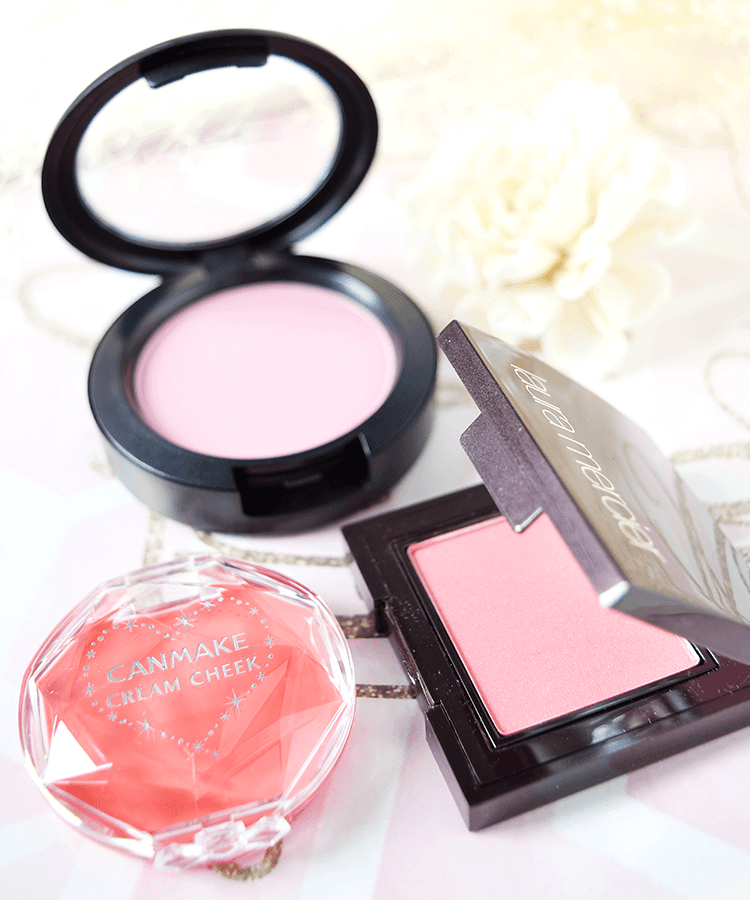 M·A·C チーク パウダーブラッシュ laura mercier チーク セカンドスキンチークカラー CANMAKE チーク クリームチーク