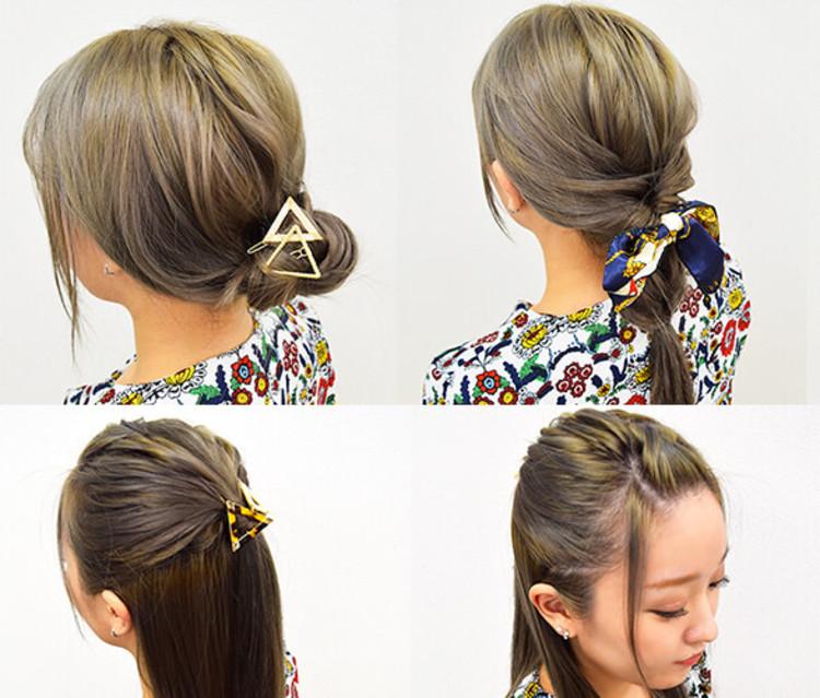 髪の毛を巻くのがめんどくさい人必見!ストレートヘアでも可愛いくなれる、ロングヘアアレンジをしてみませんか♡?
