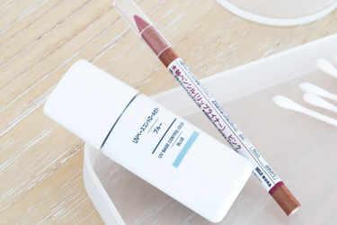 MUJI 化粧下地 UVベースコントロールカラー MUJI 口紅・グロス リップライナー ピンク