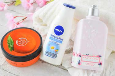 NIVEA ボディケア リフレッシュプラスホワイトニングミルク THE BODY SHOP ボディケア ボディバター L'OCCITANE ボディケア チェリーワンダーランド ボディミルク