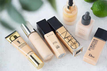 春の新作ファンデーションお試し「NARS,KATE,LUNASOL,Yves Saint Laurent,THREE,Dior,SUQQU」