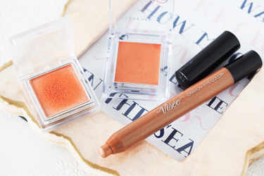 大人っぽいオレンジ系単色ラメシャドウをご紹介!-ヴィセ、RMK、リンメル