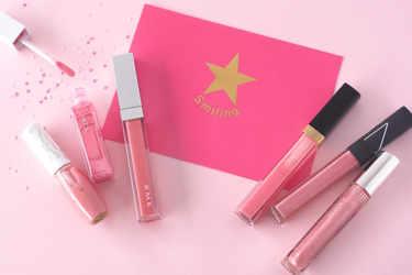 肌馴染み抜群なピンクカラーにラメが可愛いリップグロス&リキッドルージュをご紹介。キッカ、NARS、シャネル、RMK、ビューティーマインズ、メディア。