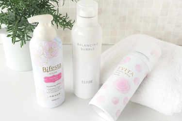 おすすめの濃密泡洗顔を3つご紹介♡ - Bifesta ビフェスタ / ELIXIR エリクシール / EVITA エビータ