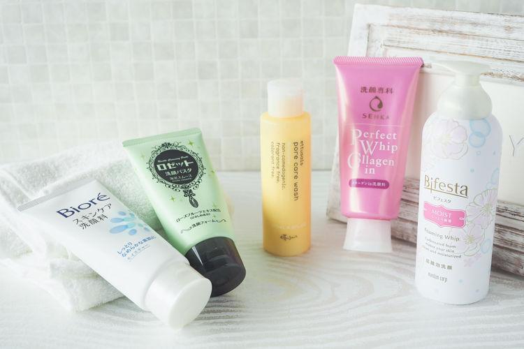 ビオレ、専科、ロゼット、エテュセ、ビフェスタの乾燥肌向け洗顔料をご紹介します!