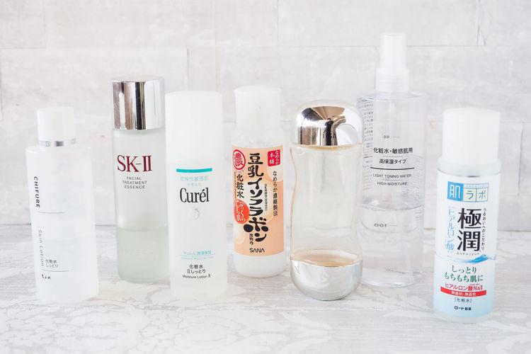 美容ライターオススメ!人気高保湿化粧水8選をご紹介。SK-Ⅱ, 無印良品, ipsa, キュレル, 肌ラボ, ちふれ, アクセーヌ, なめらか本舗