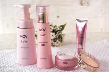 敏感肌用保湿エイジングケア、NOV(ノブ)のL&Wシリーズに日中用美容液が新登場!他のスキンケアアイテムと一緒にご紹介します♪