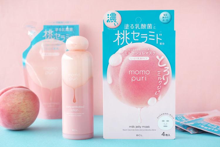 ももぷりから新スキンケアアイテムが登場!『潤い濃密化粧水』『潤い ミルクジュレマスク』をご紹介!-momopuri