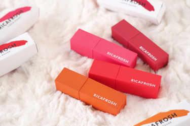 古川優香さんプロデュース「RICAFROSH(リカフロッシュ)」が登場!色持ち抜群のリップティント「ジューシーリブティント」を全色紹介♡