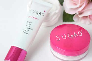 SUGAO 化粧下地 エアーフィットCCクリーム ピンクブライト ピュアオークル  SUGAO ルース・フェイスパウダー シフォン感パウダー