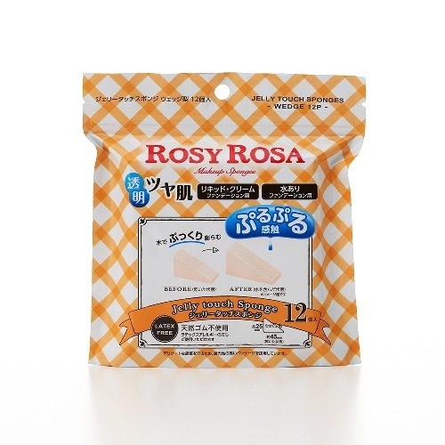 ROSY ROSA ジェリータッチスポンジ ウェッジ型 12P