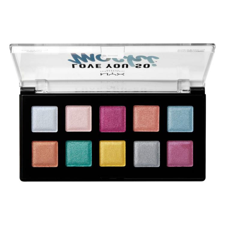NYX Professional Makeup ラブ ユー ソー モッチ シャドウ パレット 01 カラー ・ エレクトリック パステル