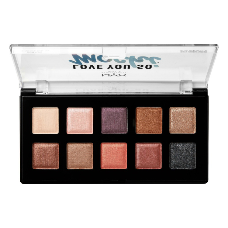 NYX Professional Makeup ラブ ユー ソー モッチ シャドウ パレット 02 カラー ・ スリーク&シック
