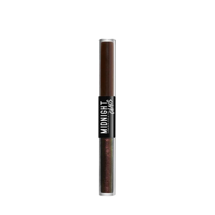 NYX Professional Makeup ミッドナイトカオス デュアルエンデッド アイライナー 06 カラー・ ブラウン/ムーンリット コントラスト