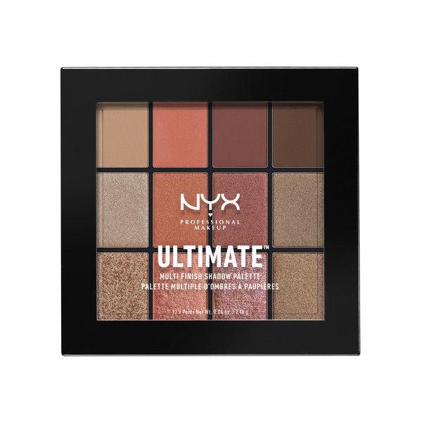 NYX Professional Makeup UT シャドウ パレット - ミックス フィニッシュ 08カラー・ウォーム ラスト