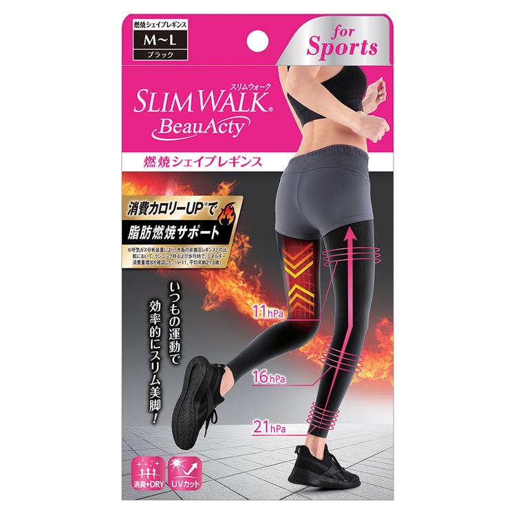 SLIM WALK スリムウォーク Beau-Acty 燃焼シェイプレギンス