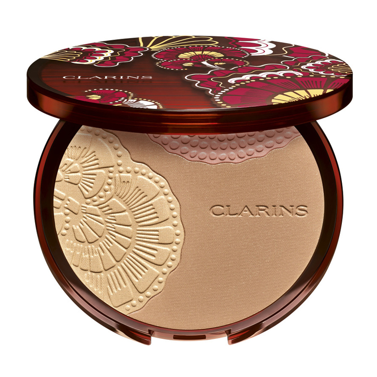 CLARINS ブロンズ コンパクト 01 サンセットグロー